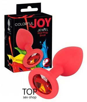 Анальная пробка Colorful Joy Jewel Red Plug Small