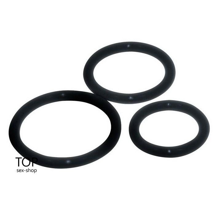 Набор эрекционных колец Sexy Circles Cockring-Set, черные