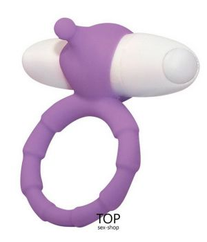 Виброкольцо Smile Loop Vibrating Ring, фиолетовое