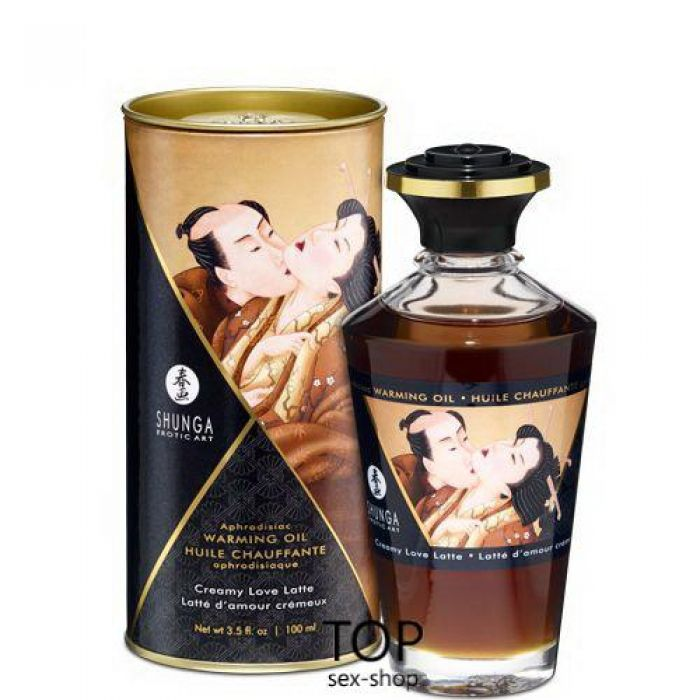 Разогревающее масло Shunga Aphrodisiac Warming Oil Creamy Love Latte (100 мл)