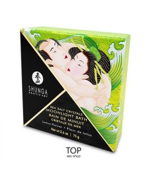 Соль для ванны Shunga Moonlight Bath Lotus Flower, 75 гр