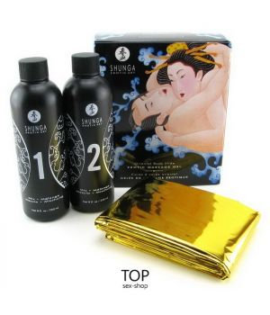Гель для массажа Shunga Oriental Body-To-Body Sparkling Exotic Fruits, 2 x 225 мл