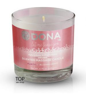 Массажная свеча DONA Scented Massage Candle Blushing Berry Flirty