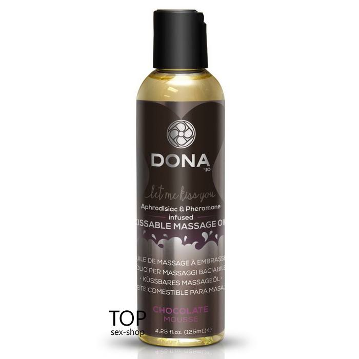Массажное масло DONA Kissable Massage Oil Chocolate Mousse