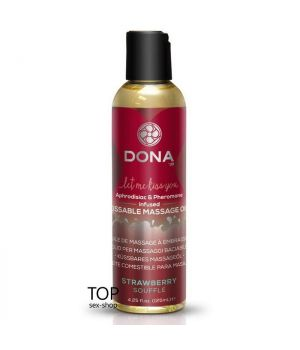 Массажное масло DONA Kissable Massage Oil Strawberry Souffle