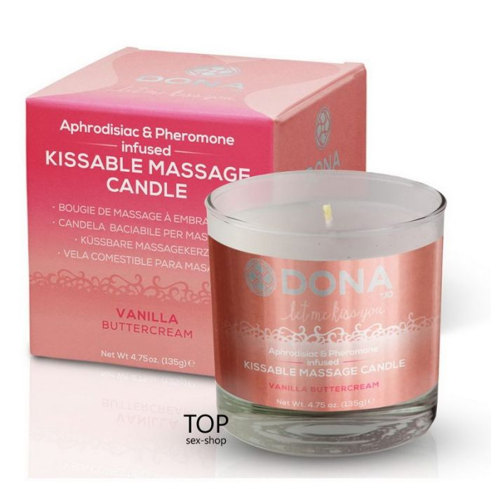 Массажная свеча DONA Kissable Massage Candle Vanilla Buttercream