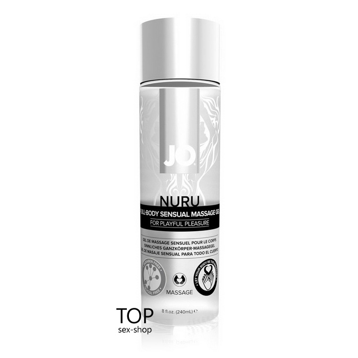 Гель для массажа Nuru Massage Gel System JO, 240ml