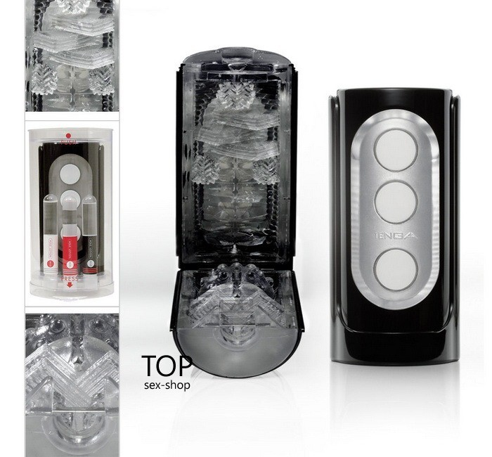 Мастурбатор Flip Hole Tenga Black — фото N20